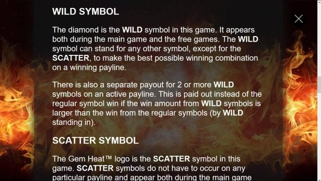Diamond Wild Symbol Rules