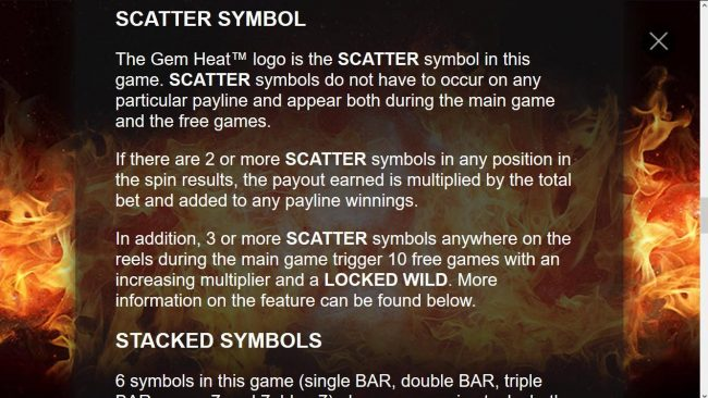 Game Logo Scatter Symbol Rules