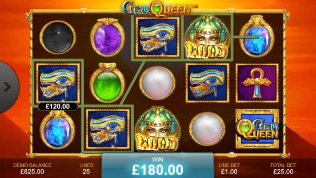 Slots Heaven featuring the Video Slots Gem Queen with a maximum payout of $500,000
