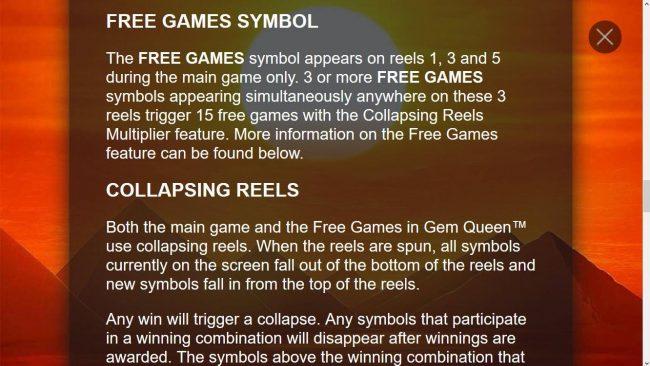 Free Games Symbol Rules