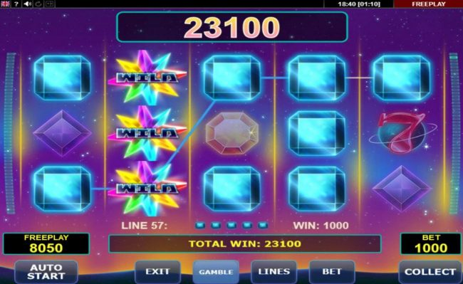 Casinia featuring the Video Slots Gem Star with a maximum payout of $5,000