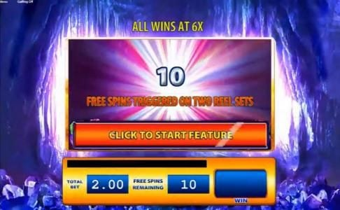 10 Free Spins Triggered on two reel sets
