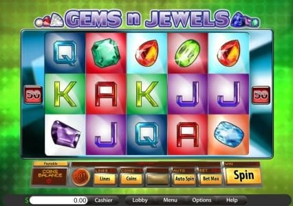 Grand Eagle featuring the Video Slots Gems n Jewels with a maximum payout of $7,500