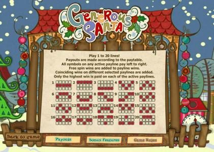 Play slots at Casdep: Casdep featuring the Video Slots Generous Santa with a maximum payout of $10,000