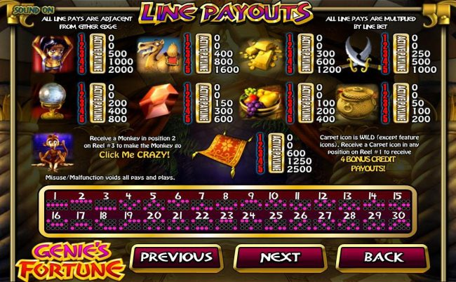 Box24 featuring the Video Slots Genie's Fortune with a maximum payout of $75,000
