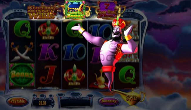 Secret Slots featuring the Video Slots Genie Jackpots with a maximum payout of Jackpot