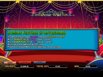 Betchan featuring the Video Slots Genie Wild with a maximum payout of $10,000