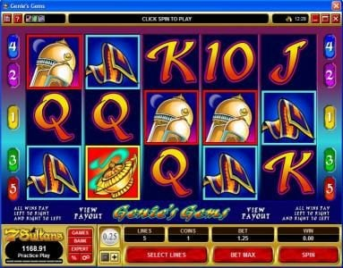 Play slots at 10Bet: 10Bet featuring the video-Slots Genie's Gems with a maximum payout of $50,000