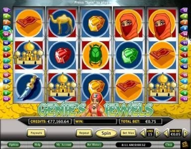 Celtic featuring the Video Slots Genie's Jewels with a maximum payout of $3,750