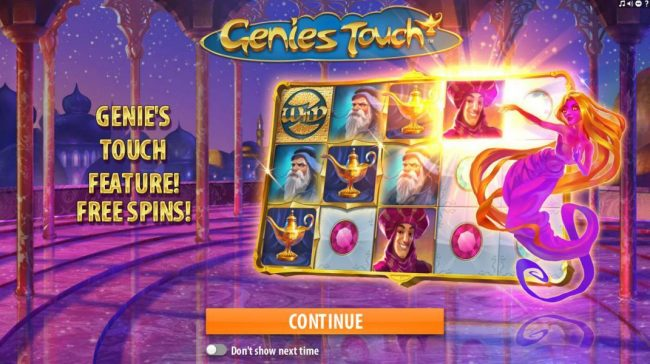 Play slots at Megaslot: Megaslot featuring the Video Slots Genie's Touch with a maximum payout of $1,250