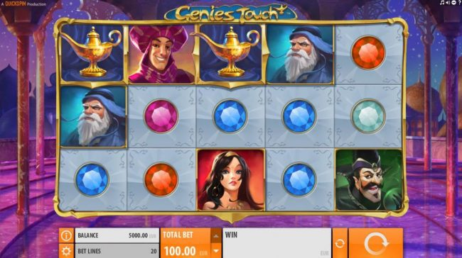 Play Hippo featuring the Video Slots Genie's Touch with a maximum payout of $1,250