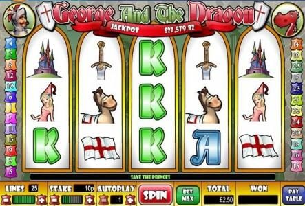 My Bet featuring the Video Slots George And The Dragon with a maximum payout of $15,000