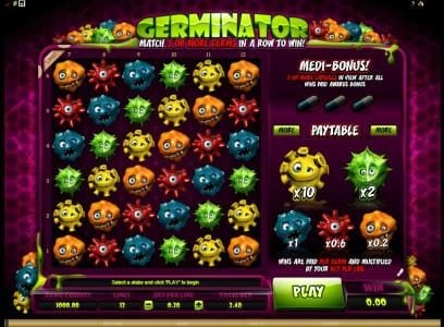 Play slots at Players Palace: Players Palace featuring the Video Slots Germinator with a maximum payout of $720