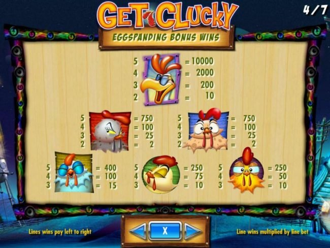Vegas Baby featuring the Video Slots Get Clucky with a maximum payout of $250,000