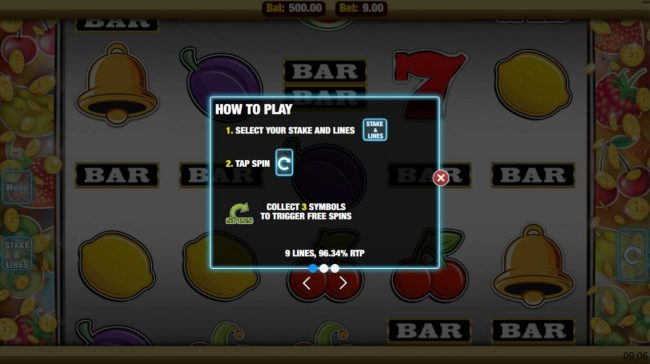 Cheeky Riches featuring the Video Slots Get Fruity with a maximum payout of $22,500
