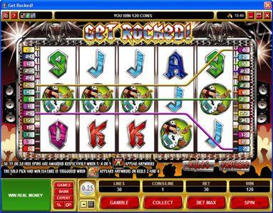 Dublinbet featuring the Video Slots Get Rocked with a maximum payout of $31,250