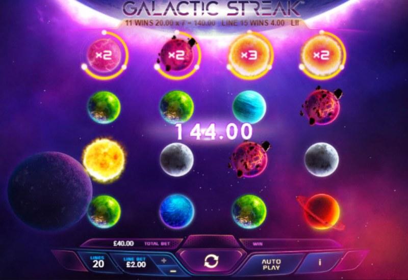 Galactic Streak :: Multiple winning paylines