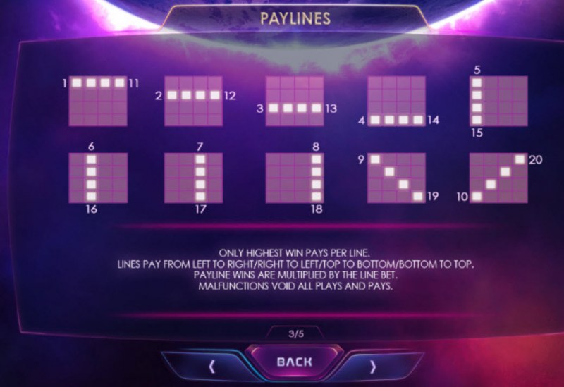 Galactic Streak :: Paylines 1-20