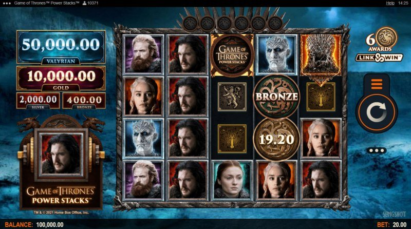 Game of Thrones Power Stacks :: Base Game Screen