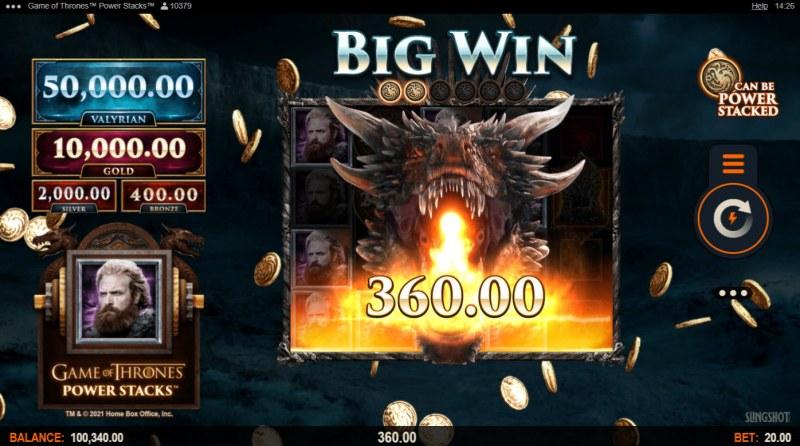 Game of Thrones Power Stacks :: Big Win