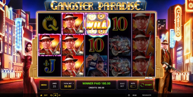 Gangster Paradise :: Multiple winning paylines