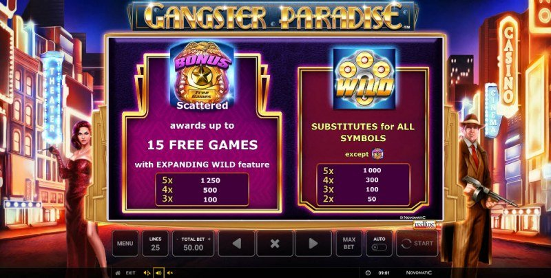 Gangster Paradise :: Wild and Scatter Rules
