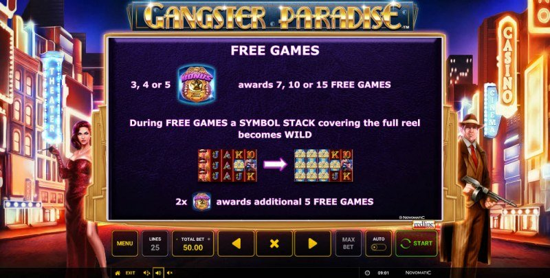 Gangster Paradise :: Free Spins Rules