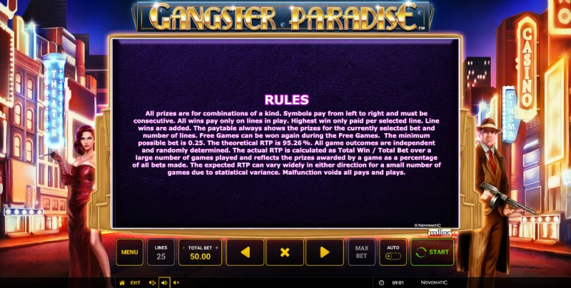 Gangster Paradise :: General Game Rules
