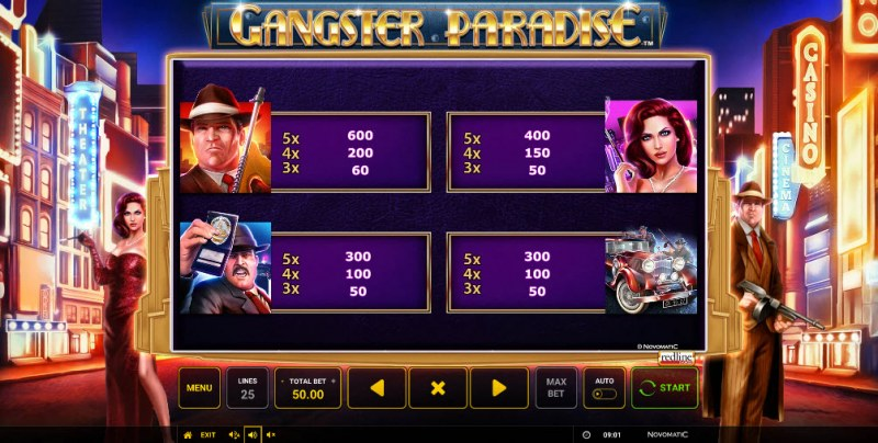 Gangster Paradise :: Paytable - High Value Symbols