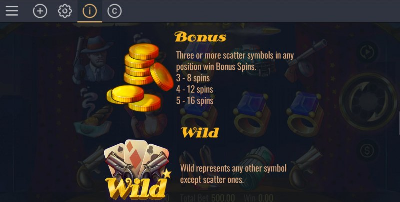 Gangster's Party :: Wild and Scatter Rules