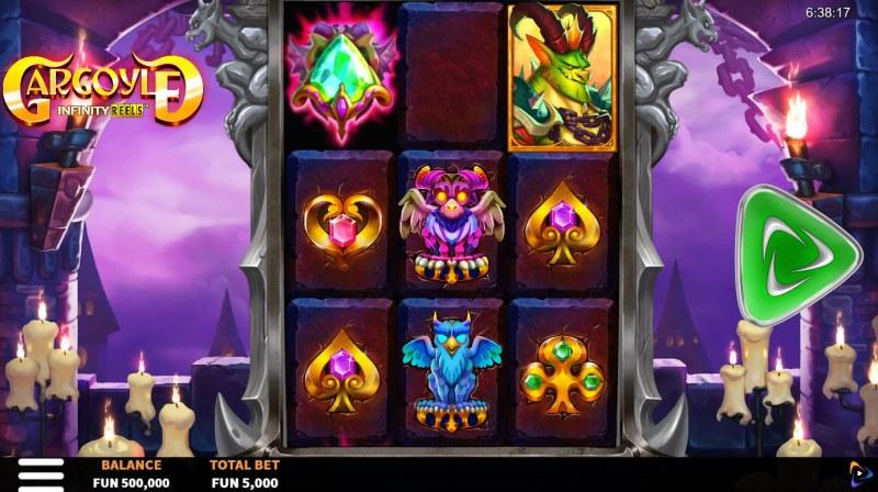 Gargoyle Infinity Reels :: Main Game Board