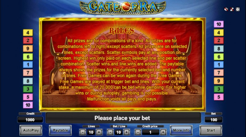 Gate of Ra :: General Game Rules