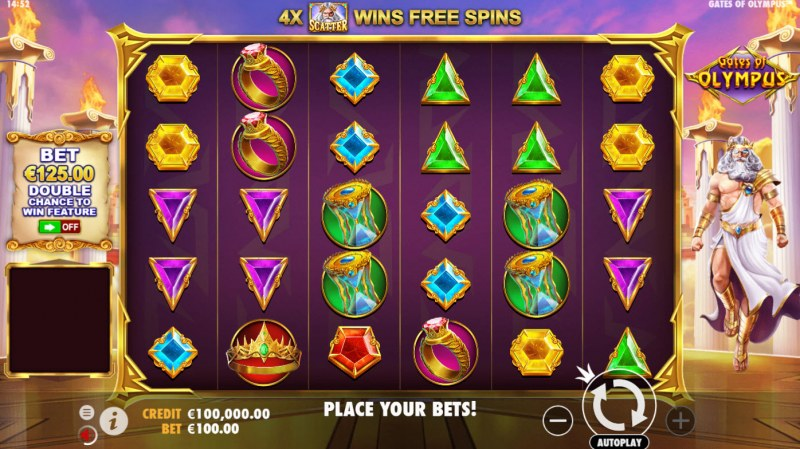 Gates of Olympus :: Main Game Board