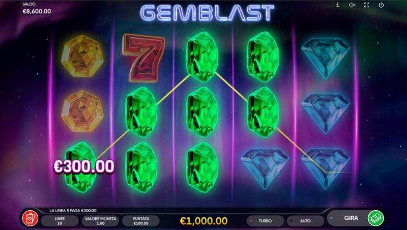 Gem Blast :: Multiple winning paylines