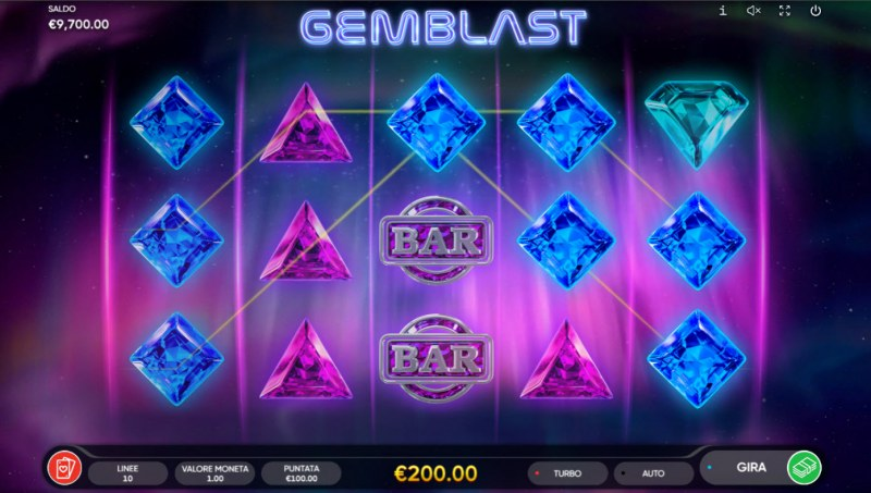 Gem Blast :: Game Pays In Both Directions
