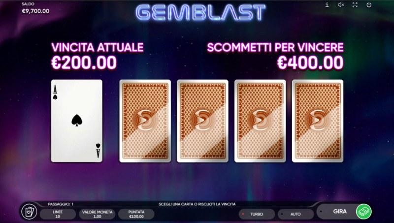 Gem Blast :: Red or Black Gamble Feature