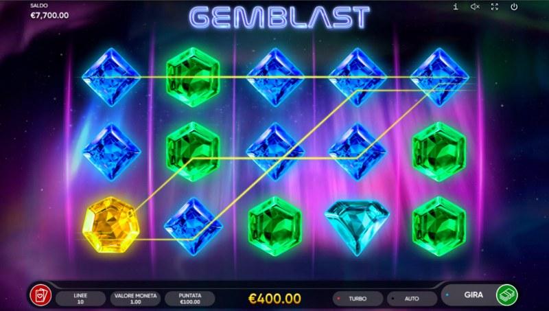 Gem Blast :: A four of a kind win