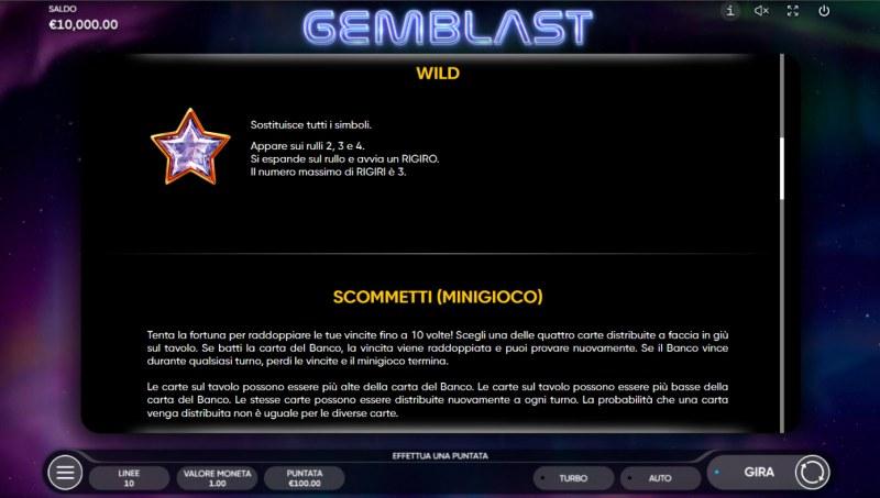 Gem Blast :: Wild Symbol Rules