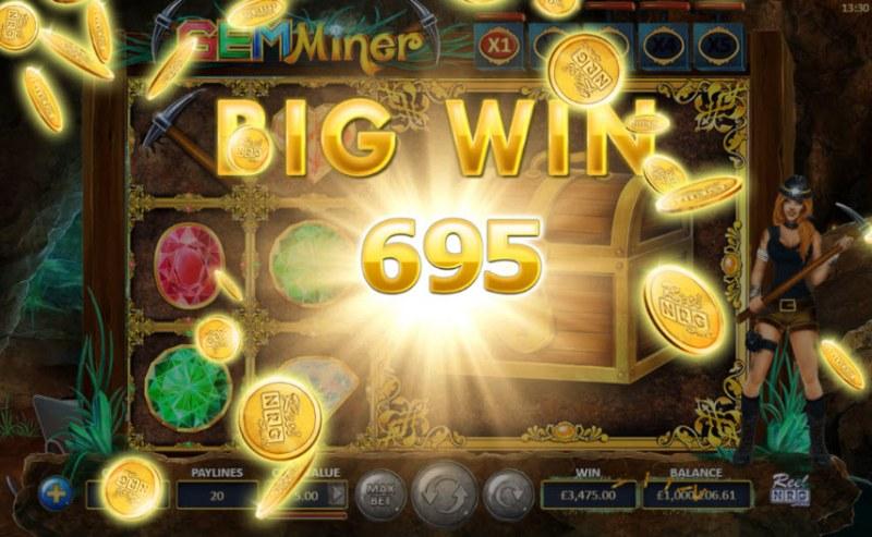 Gem Miner :: Total free spins payout