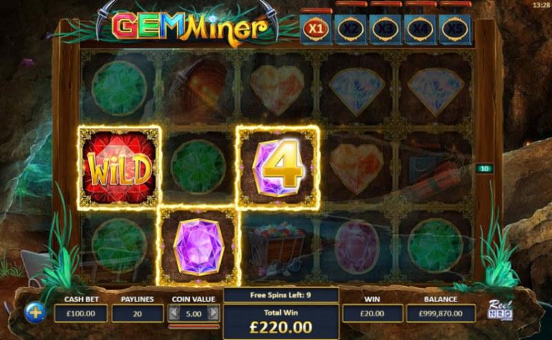 Gem Miner :: Free Spins Game Board