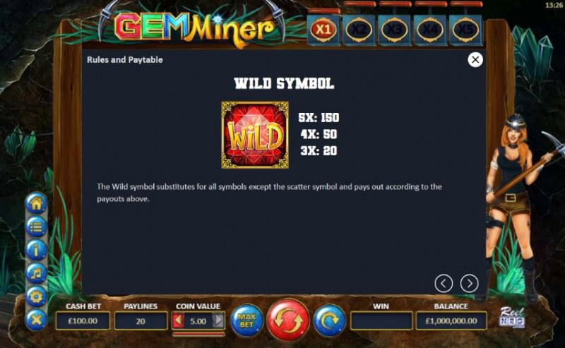 Gem Miner :: Wild Symbols Rules