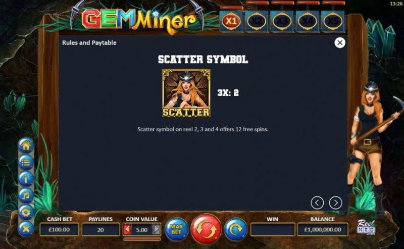 Gem Miner :: Scatter Symbol Rules
