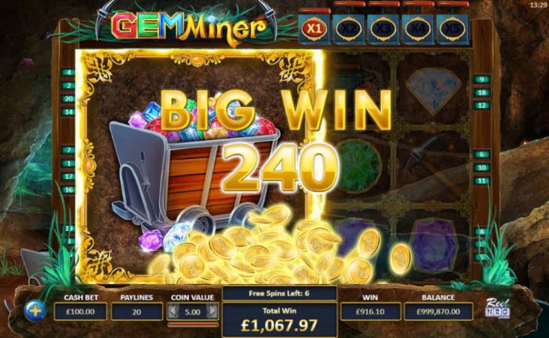 Gem Miner :: Big Win
