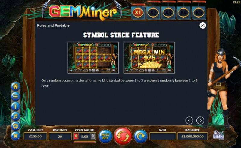 Gem Miner :: Symbol Stack Feature