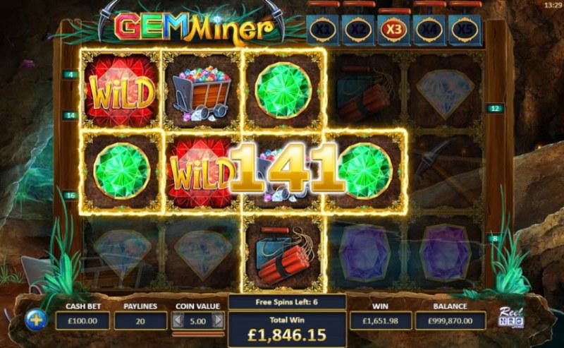 Gem Miner :: Multiple winning paylines