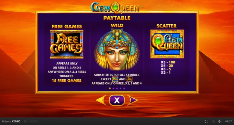 Gem Queen :: Wild and Scatter Rules