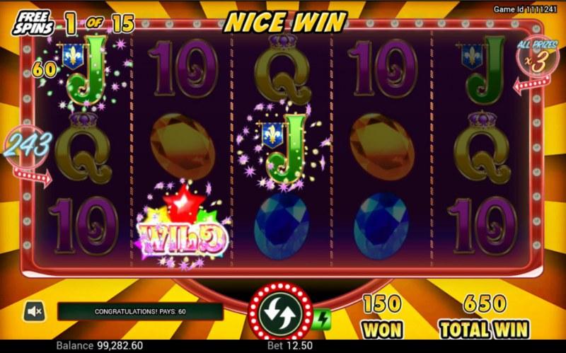 Gem Riches :: Free Spins Game Board
