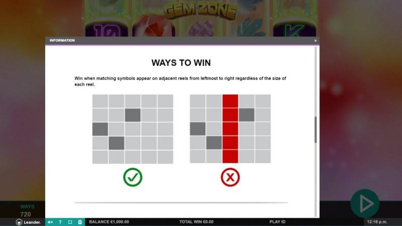Gem Zone :: Ways To Win