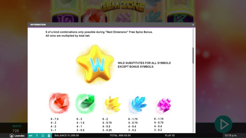 Gem Zone :: Wild Symbols Rules