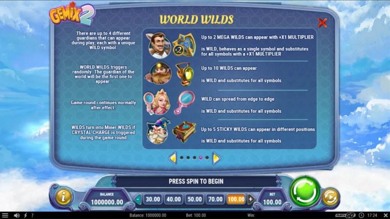 Gemix 2 :: World Rules